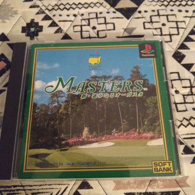 PlayStation 1 PS1 Japan Golf Masters Distant Augusta Game