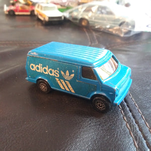 1978 Corgi Juniors (UK) US Van Blue Adidas Sneakers Advertising