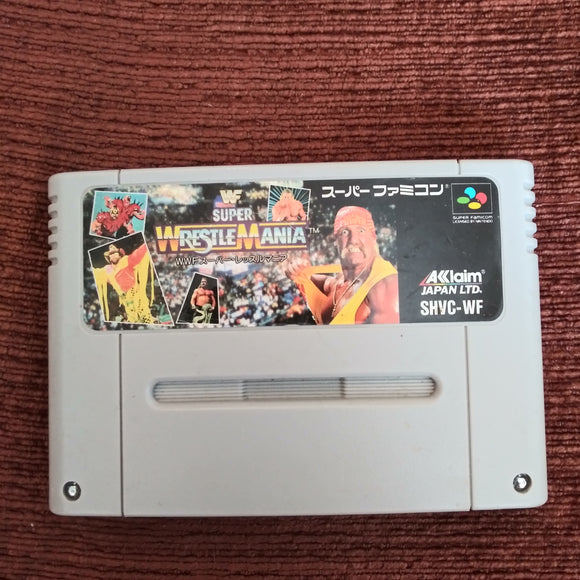 Super Famicom Nintendo SFC WWF Super Wrestlemania Japan Cartridge