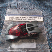 2003 Hot Wheels Swoopy Do Grey/Red Space Pirate Variant Die-Cast Car