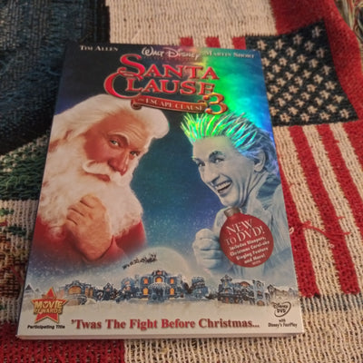 Walt Disney Santa Clause 3 The Escape Clause DVD with Slipcover