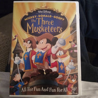 Walt Disney Mickey Donald Goofy The Three Musketeers DVD