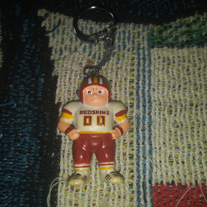 1997 NFL Washington Redskins PVC and Metal Player Keychain
