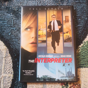The Interpreter DVD Nicole Kidman Sean Penn