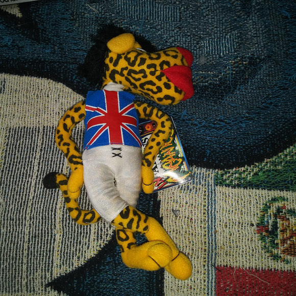 Infamous Meanies Plush Mick Jaguar Parody of Mick Jagger NEW WITH TAG NWT