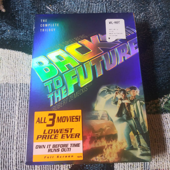 Back To The Future 3 DVD Disc Full Screen Trilogy with Slipcover