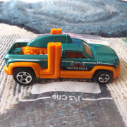 2012 Hot Wheels #133 Diesel Duty Water Department Teal Variant Die-Cast Truck