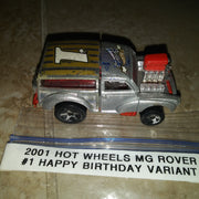 2001 Hot Wheels MG Rover #1 Happy Birthday Variant