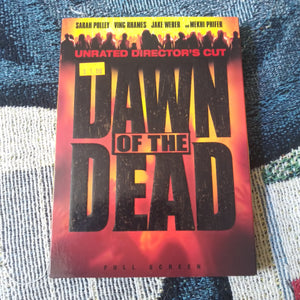 Dawn of the Dead Unrated Director's Cut Zombie Horror DVD with Slipcover