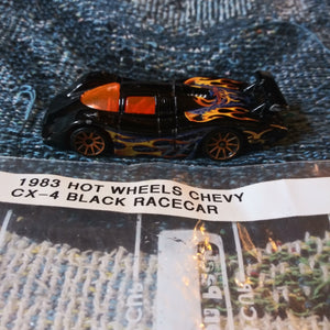 1983 Hot Wheels Chevy CX-4 Black and Flames Racecar