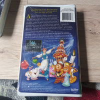 Walt Disney Beauty and the Beast The Enchanted Christmas Clamshell VHS Tape