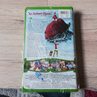 Dr. Seuss' How The Grinch Stole Christmas - Clamshell  VHS - Jim Carrey