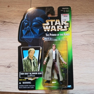 1996 Star Wars POTF Green Han Solo In Endor Gear Sealed Figure