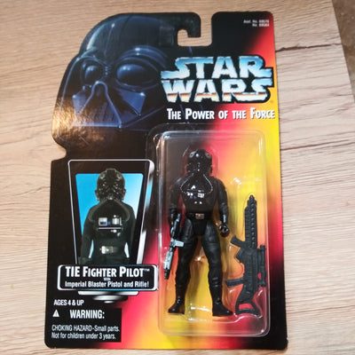 1995 Star Wars POTF Red Tie Fighter Pilot Sealed Figure