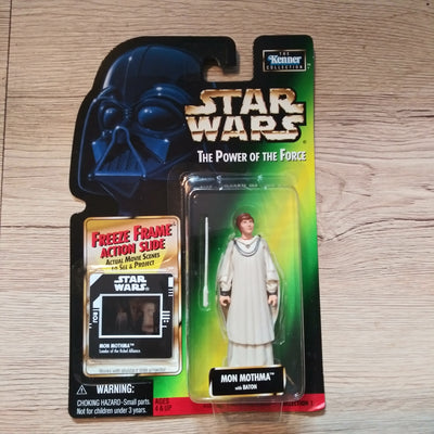 1998 Star Wars POTF Green Freeze Frame Mon Mothma Sealed Figure