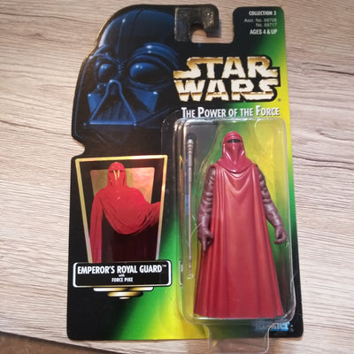 1997 Star Wars POTF Green Emperor's Royal Guard Sealed Figure