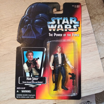 1995 Star Wars POTF Red Han Solo with Assault Rifle & Blaster Sealed Figure