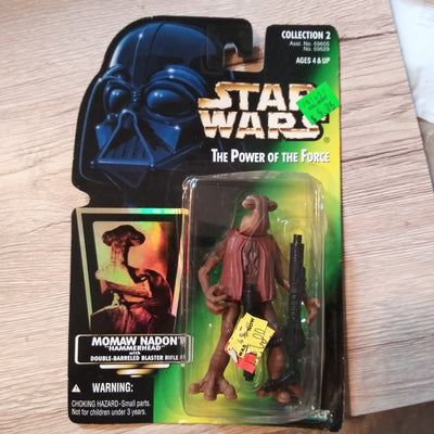 1996 Star Wars POTF Momaw Nadon Hammerhead Sealed Figure