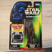 1998 Star Wars POTF Green Freeze Frame Chewbacca Sealed Figure