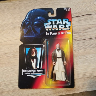 1995 Star Wars POTF Red Ben Obi-Wan Kenobi Sealed Figure
