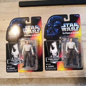1996 Star Wars POTF Red Han Solo In Carbonite Sealed Figure