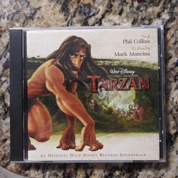 Music CD - Walt Disney Tarzan Movie Soundtrack w/Booklet Poster - Phil Collins