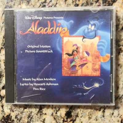 Walt Disney Aladdin Original Movie Soundtrack w/Lyrics Tim Rice BMG Music CD