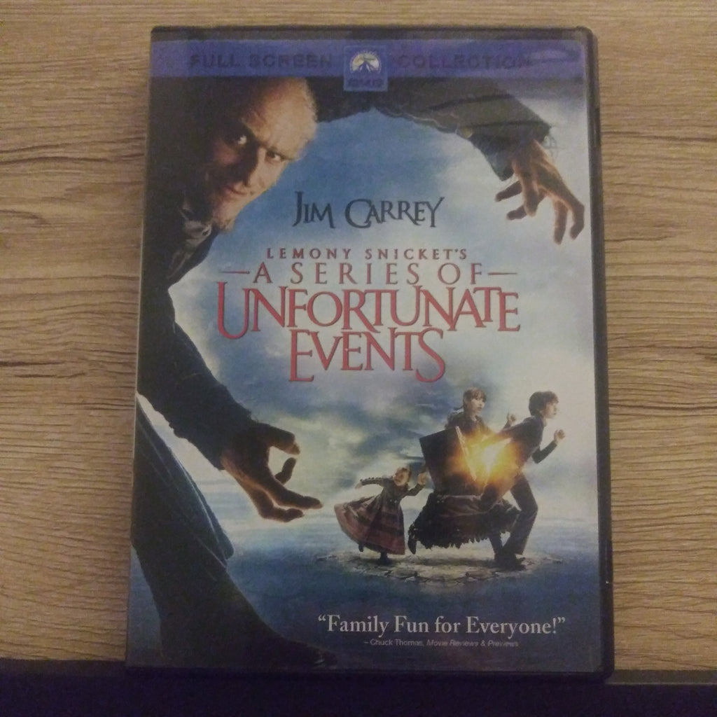 Lemony Snicket's a Series Of Unfortunate Events Full Screen DVD - Jim Carrey