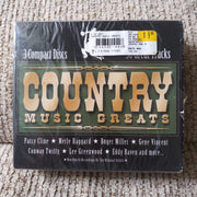 Country Music Greats - 3 CD Set - 30 Tracks - Patsy Cline - Merle Haggard & More