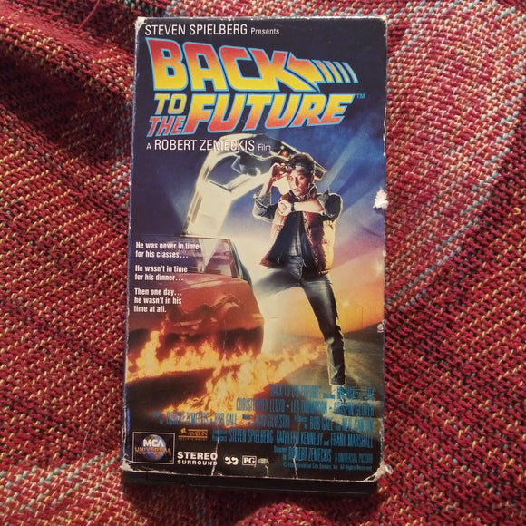 Back To The Future VHS Tape - 1985 1st Release - Michael J Fox