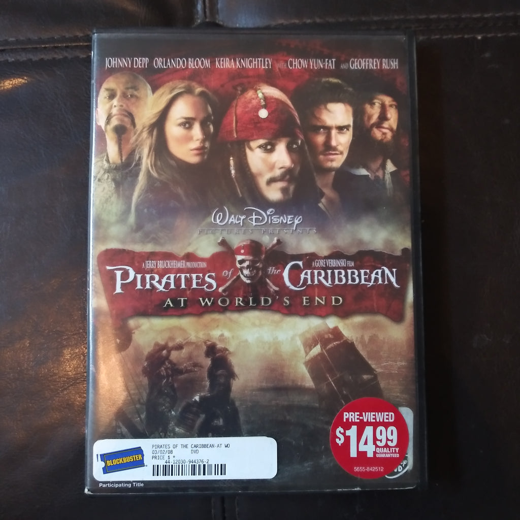 Walt Disney Pirates of the Caribbean At World's End DVD - Johnny Depp
