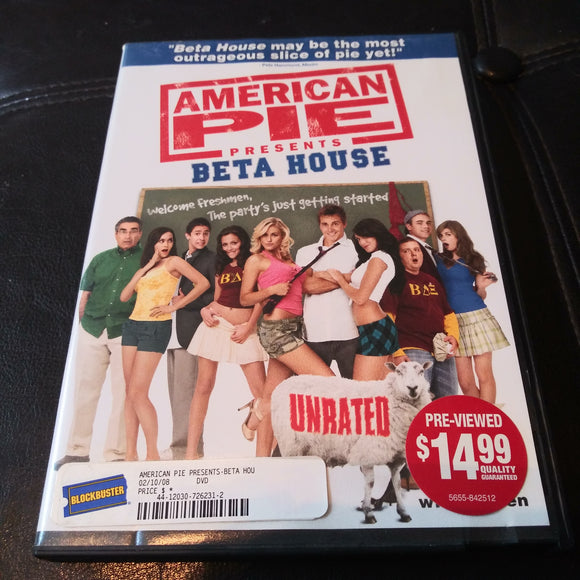 American Pie Presents Beta House - Unrated DVD - Comedy