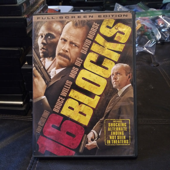 16 Blocks Fullscreen Edition DVD - Bruce Willis - Mos Def - Alternate Ending