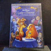 Walt Disney Lady and the Tramp 50th Anniversary Platinum Edition 2 DVD Set No Slipcover