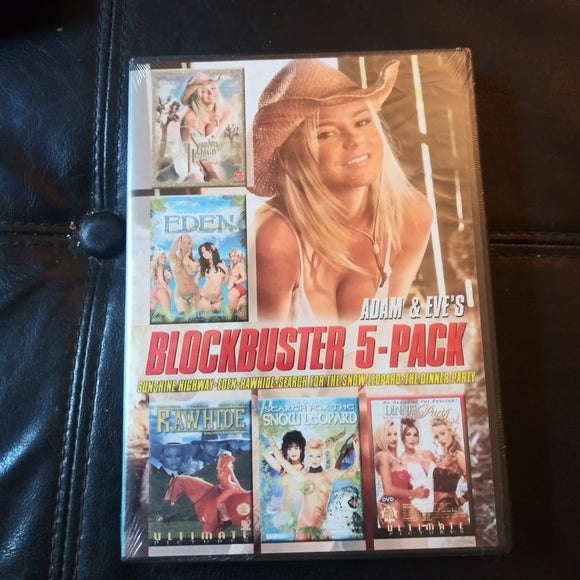 Adam & Eve Production DVD: Blockbuster 5 Movies Pack - Sealed NEW