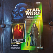 1996 Star Wars Power Of The Force Green Emperor Palpatine with Walking Stick Figure