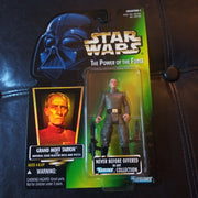 1996 Star Wars Power Of The Force Green Grand Moff Tarkin with Rifle and Blaster Figure