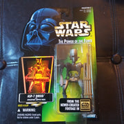 1996 Star Wars Power Of The Force Green ASP-7 Droid with Supply Rods Figure