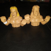 1990 Toymax WCW Lex Luger 2 Thumb Wrestlers Both Versions