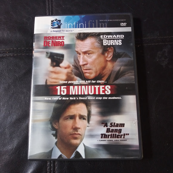 15 Minutes Infini Film DVD - Robert DeNiro - Edward Burns with insert books