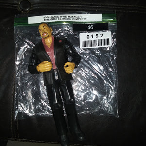 2004 Jakks WWE Manager Wrestling Figure Armando Estrada Complete with Jacket
