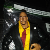 2003 Jakks Khosrow Daivari Custom Wrestling Figure Headswapped with The Coach Head