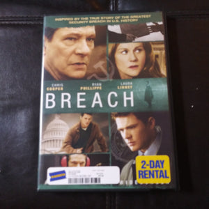 Breach Widescreen DVD - Chris Cooper - Ryan Phillippe - Laura Linney Blockbuster Rental