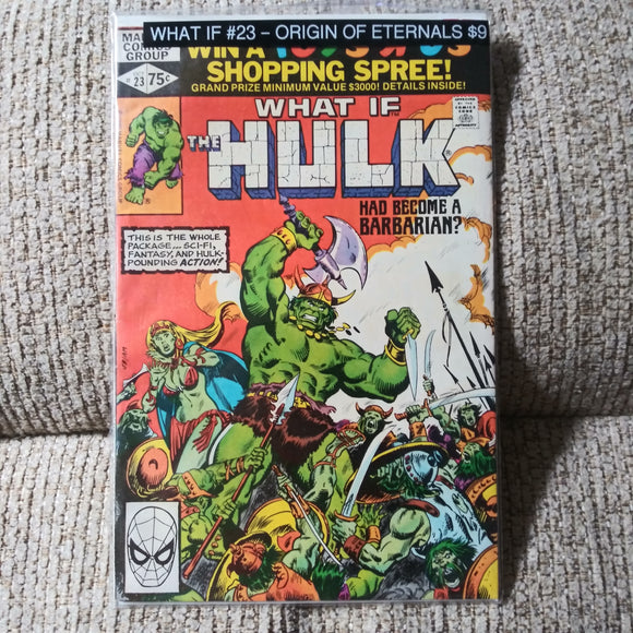 What If? #23 The Hulk Had Become A Barbarian KEY ETERNALS ORIGIN Marvel Comics