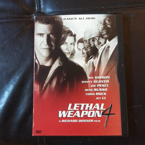 Lethal Weapon 4 Snapcase DVD - Marked NOT FOR SALE Promo On Back