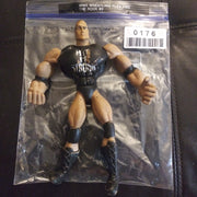 WWE WWF Wrestling Figure Flex Em's The Rock Hit It Strong