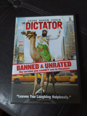 The Dictator DVD - Sacha Baron Cohen - Banned & Unrated Version