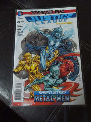 Justice League #28a (2014) Forever Evil - Cyborg and the Metal Men