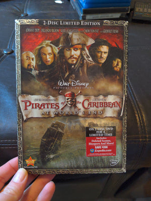 Walt Disney Pirates of the Caribbean At World's End 2 Disc Limited Edition DVD Set w/Slipcover