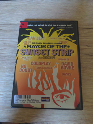 Mayor of the Sunset Strip DVD - Rock & Roll - David Bowie - Courtney Love - Coldplay